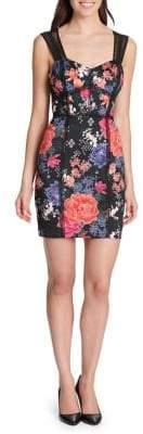 GUESS Floral-Print Mini Dress