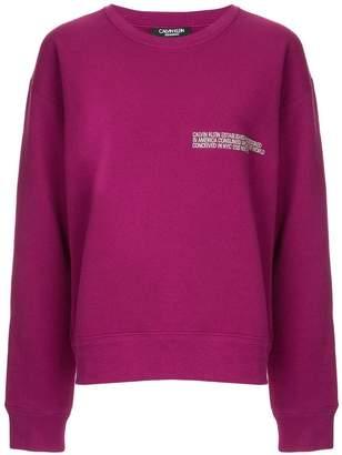 Calvin Klein embroidered sweatshirt