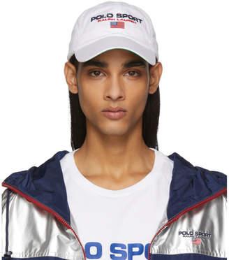 Polo Ralph Lauren White Sport Cap