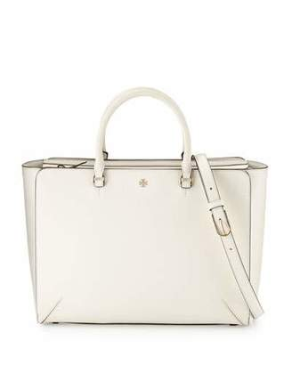 Tory Burch Robinson Large Zip-Top Tote Bag, New Ivory $595 thestylecure.com