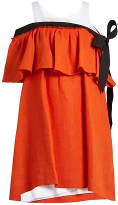 Isa Arfen Mali Baby off-the-shoulder linen dress