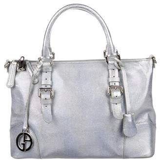 Giorgio Armani Embossed Leather Satchel