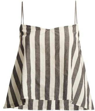 Akari Anaak Striped Cotton Cami Top - Womens - Grey White