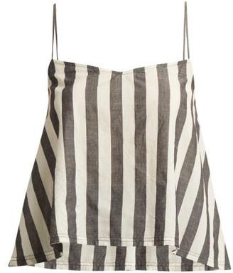 f425a321110bb Akari Anaak Striped Cotton Cami Top - Womens - Grey White