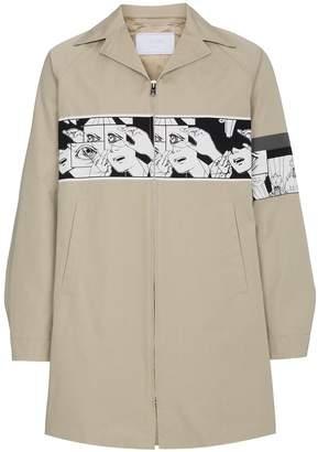 Prada comic band mac jacket