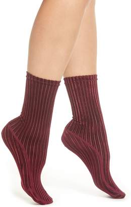 Nordstrom Velvet Ribbed Socks