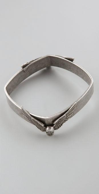 Fallon Jewelry Hells Angels Skull Bangle