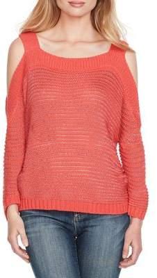 Jessica Simpson Knit Cold-Shoulder Pullover