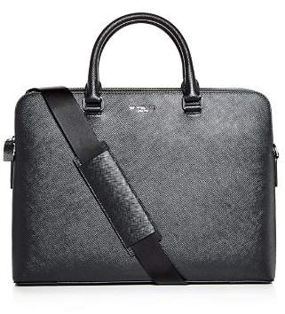 Michael Kors Harrison Crossgrain Leather Briefcase