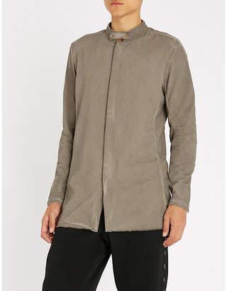 Boris Bidjan Saberi Grandad-collar slim-fit cotton shirt