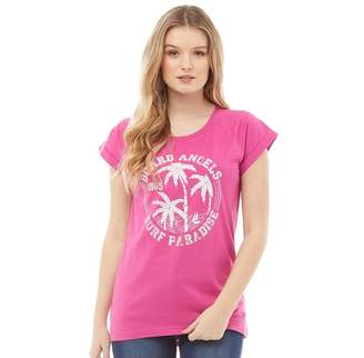 Board Angels Womens Printed Top Raspberry