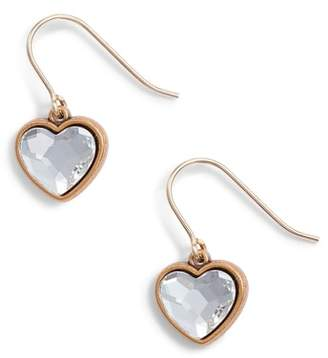 Alex and Ani Crystal Heart Drop Earrings