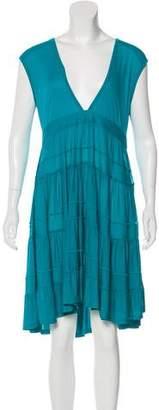 Miu Miu Ruffled Knee-Length Dress
