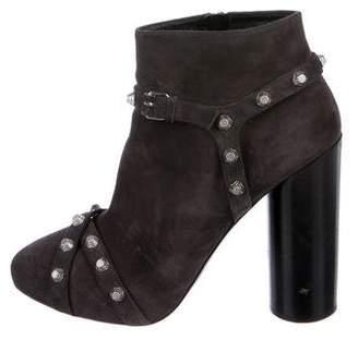 Balenciaga Arena Suede Ankle Boots