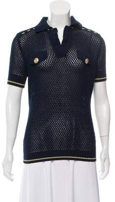Pierre Balmain Short Sleeve Knit Top