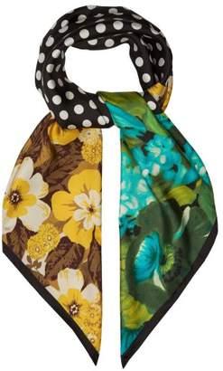 Richard Quinn - Printed Silk Twill Scarf - Womens - Multi