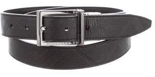 Burberry Nova Check Leather Belt