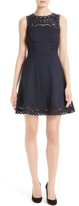 Women's Ted Baker London Verony Eyelet Fit & Flare Dress $295 thestylecure.com