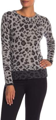 Magaschoni M BY Animal Pattern Cashmere Pullover