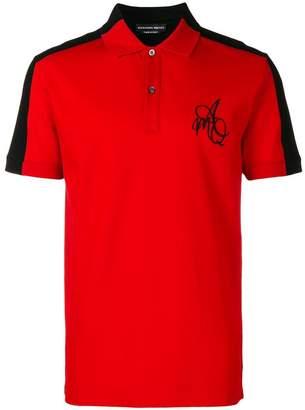Alexander McQueen two tone polo shirt