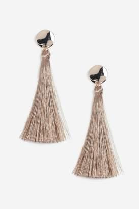 Topshop Stud Tassel Drop Earrings