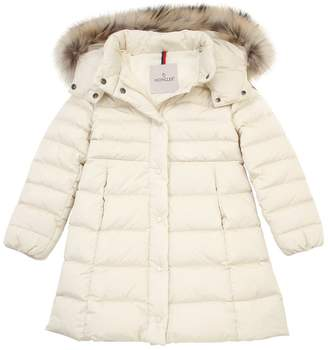 Moncler New Neste W/ Fur Nylon Down Jacket