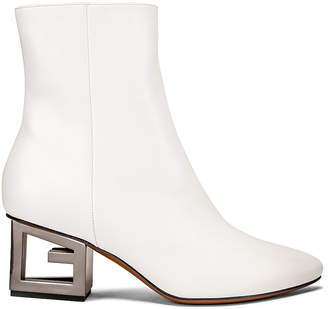 Givenchy Triangle Heel Ankle Boot in Ivory | FWRD