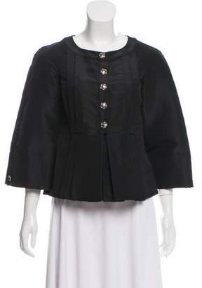 Chanel Pleated Silk Jacket