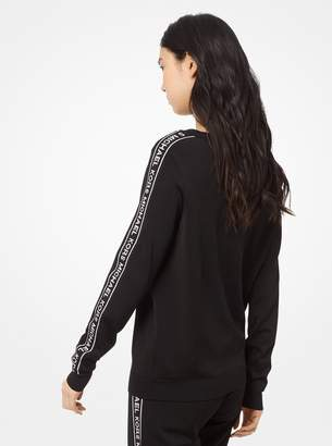 MICHAEL Michael Kors Logo Tape Stretch-Viscose Pullover