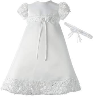 Ralph Lauren Madison Baby-Girls Newborn Satin Dress Gown Outfit