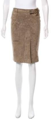 Tom Ford Suede Pencil Skirt