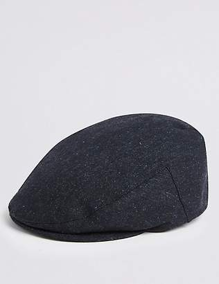 M&S Collection Wool Blend Flat Cap with StormwearTM