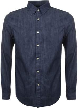 G Star Raw Slim Core Denim Shirt Blue