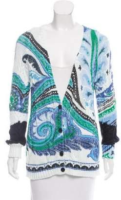Etro Printed Knit Cardigan