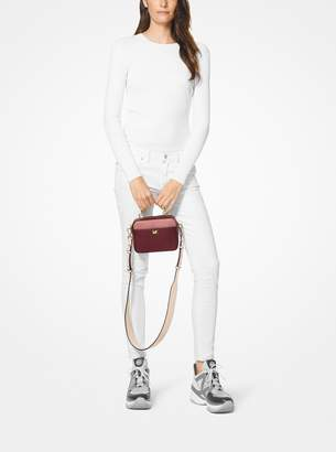 MICHAEL Michael Kors Mott Mini Color-Block Pebbled Leather Crossbody