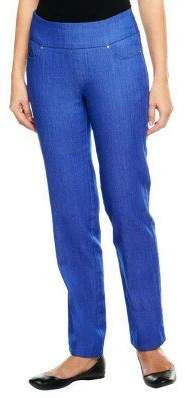 Denim & Co. Regular Perfect Denim Smooth Waist Straight Leg Jeans