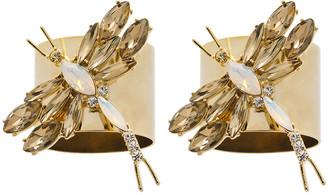 Joanna Buchanan Dragonfly Napkin Ring - Set of 2 - Taupe