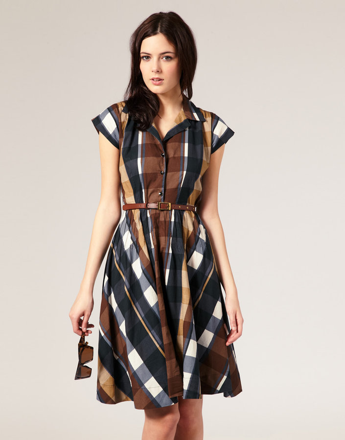 River Island '50s Check Dress