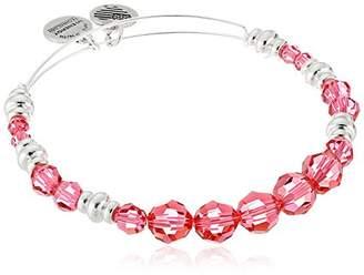 Alex and Ani Swarovski Beaded Rouge Expandable Wire Gold Bangle Bracelet
