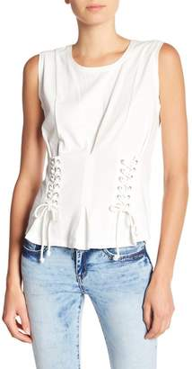William Rast Tommie Lace-Up Sides Sleeveless Tee