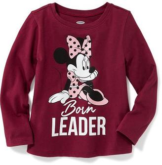 "Disney© Minnie Mouse ""Born Leader"" Tee for Toddler Girls $14.99 thestylecure.com"
