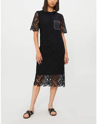 Joseph Ellis contrast-pocket crochet-lace dress