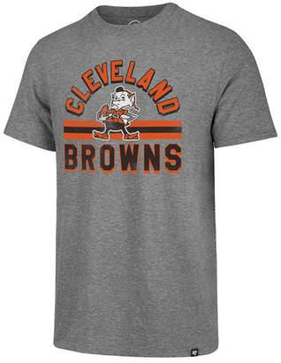 '47 Men Cleveland Browns Team Stripe Match Tri-blend T-Shirt