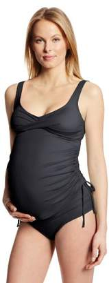 Prego Maternity Women's Maternity Solid Twist Tankini