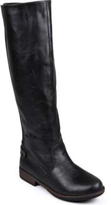Brinley Co. Women's Wide Calf Stretch Knee-High Riding Boot
