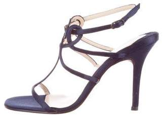 Christian Louboutin Satin T-Strap Sandals