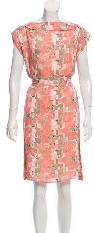 Armani Collezioni Sleeveless Printed Silk Dress w/ Tags