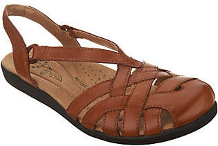 Earth Origins Leather Closed Toe Sandals -Nellie