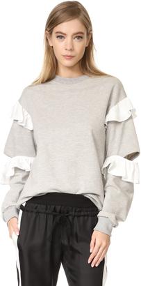 Clu Ruffle Sweatshirt $205 thestylecure.com