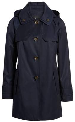 London Fog Removable Hood Rain Coat